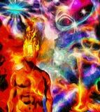 горящий разум Стоковое фото RF