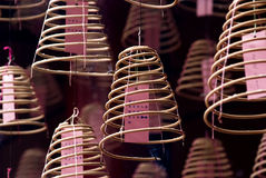 Горящий спиральн ладан Стоковое Изображение