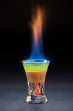 Горящий спиртной коктеиль стоковое изображение rf