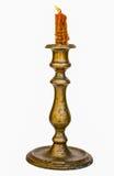 Горящий старый подсвечник года сбора винограда свечи Стоковое Изображение