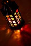 горящий темный фонарик Стоковые Фото