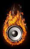 горящий тип диктора нот Стоковое фото RF