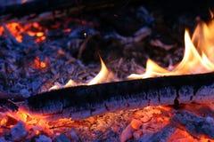 горящий уголь в реальном маштабе времени Стоковое Фото