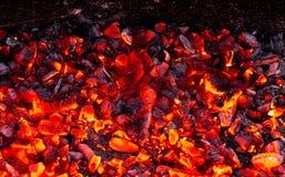 Горящий уголь как предпосылка Стоковая Фотография RF
