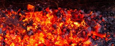 Горящий уголь как предпосылка Стоковые Изображения