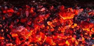 Горящий уголь как предпосылка Стоковые Изображения RF
