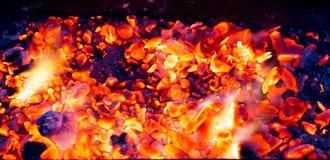 Горящий уголь как предпосылка Стоковое Изображение RF