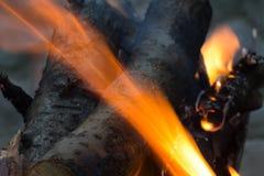 Горящий уголь на заднем плане Стоковые Изображения RF