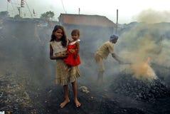горящий уголь Стоковое Изображение
