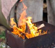 горящий уголь Стоковая Фотография RF