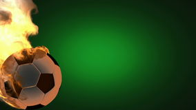 Горящий футбольный мяч. альфа matted бесплатная иллюстрация