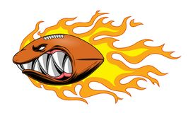 Горящий шарик американского футбола Стоковые Изображения RF