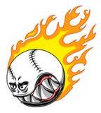 Горящий шарик бейсбола Стоковое Фото