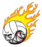 Горящий шарик волейбола Стоковое Фото