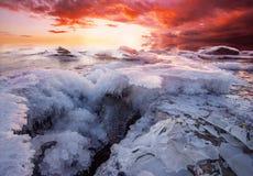 горящий льдед Стоковое фото RF