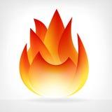 Горящий элемент вектора пламени огня Стоковое Изображение RF