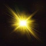 Горящий яркий космический взрыв звезды иллюстрация вектора