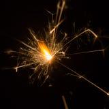 горящий sparkler Стоковая Фотография RF