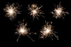 горящий sparkler Стоковые Изображения RF
