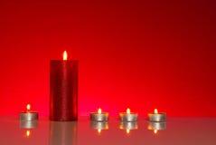 5 горящих свечей Стоковое Фото