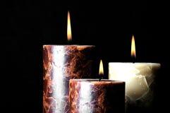 3 горящих свечи Стоковые Изображения