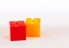 2 горящих свечки Стоковая Фотография