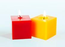 2 горящих свечки Стоковое фото RF