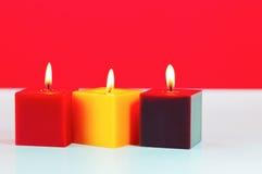 3 горящих свечки Стоковое Фото