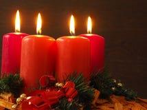 4 горящих свечки Стоковые Изображения