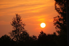 Горя восход солнца Колорадо Стоковые Изображения RF