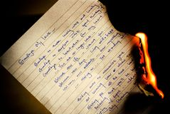 горя до свидания письмо Стоковые Изображения