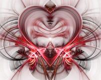 Горя и бить сердце Предпосылка дня ` s Валентайн карточка 2007 приветствуя счастливое Новый Год Стоковое Фото