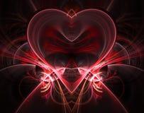 Горя и бить сердце Предпосылка дня ` s Валентайн карточка 2007 приветствуя счастливое Новый Год Стоковые Фотографии RF