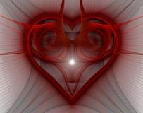 Горя и бить сердце Предпосылка дня ` s Валентайн Стоковые Изображения