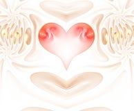 Горя и бить сердце Valentine& x27; предпосылка дня s карточка 2007 приветствуя счастливое Новый Год иллюстрация штока