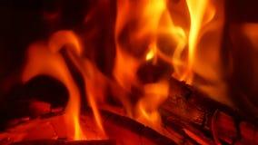 Горя огонь в камине акции видеоматериалы