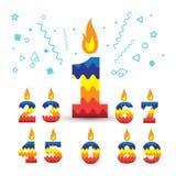 Горя свечи 1 дня рождения бесплатная иллюстрация
