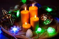 Горя свечи xmas Стоковая Фотография RF
