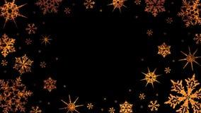 Горя снежинки вращают на прозрачной предпосылке Видео с каналом альфы Закрепленная петлей анимация акции видеоматериалы