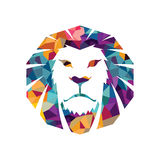 Гордости знака стороны кота иллюстрации шаблона логотипа льва сила головной творческой животной одичалой графической сильная Стоковые Фотографии RF