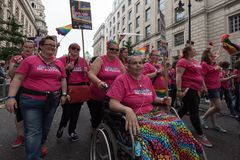 Гордость Лондон 2016 LGBT Стоковое фото RF