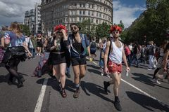 Гордость Лондон 2016 LGBT Стоковое Изображение RF