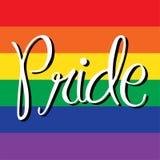 Гордость на флаге радуги Стоковое Изображение