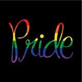 Гордость радуги на черноте Стоковое Фото