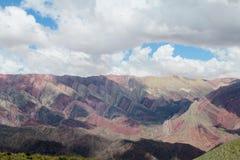 7 гор цвета в Аргентине Стоковое Фото