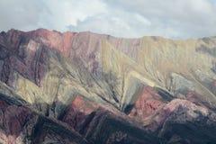 7 гор цвета в Аргентине Стоковые Фото
