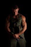 Гордый изолированный солдат Стоковое Изображение RF