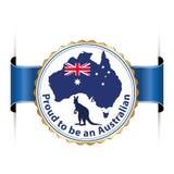 Гордый для того чтобы быть австралийцем Стоковая Фотография RF