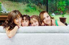 2 гордых испанских матери представляя с их Стоковое фото RF
