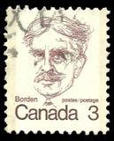 Господин Роберт Borden стоковое изображение rf